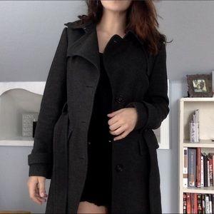 Long pea coat with wrap waist!!